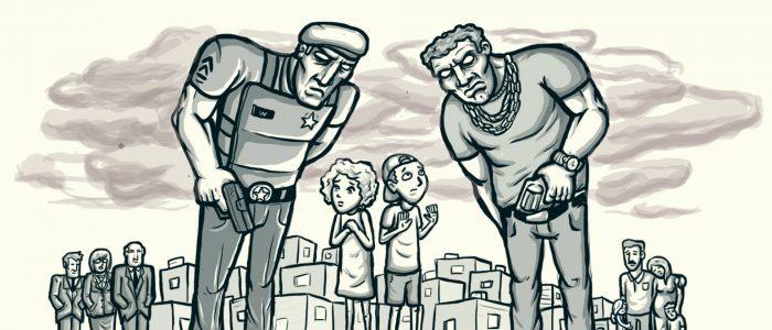 As crianças e os adolescentes jurados de morte pela polícia e pelo tráfico de drogas