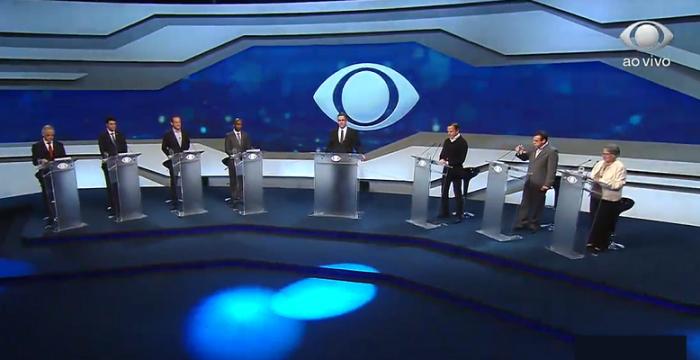 """Sob """"torcida"""", candidatos ao Governo de São Paulo realizaram primeiro debate de 2018"""